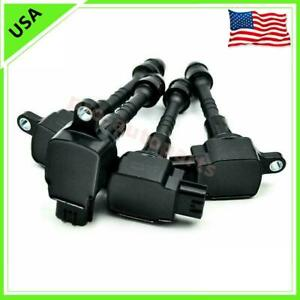 4pc Oem 22448 6n015 Aic 4004g Hanshin Ignition Coils For Nissan Sentra 2002 2006