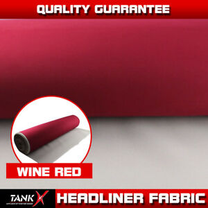 85 L X 60 W Auto Boat Headliner Fabric Craft Trimming Upholstery Replace Sag Red