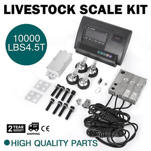 10000lbs Livestock Scale Kit For Animals Pallet Scale Agriculture Waterproof