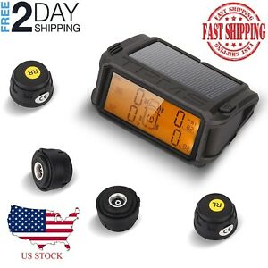 Jinch Wireless Tpms Tire Pressure Monitoring System Solar Powered Monitor 4 Exte