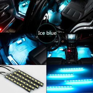 Ice Blue Car Interior Under Dash Seats Lighting Strip 6 Inches Led Accent Light