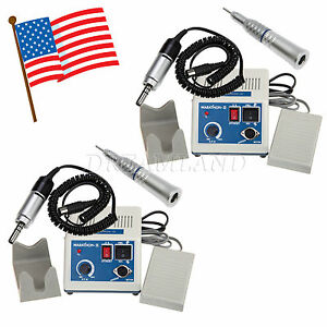 2 X Dental Lab Marathon Electric Micro Motor Low Speed Straight Handpiece Nozzle