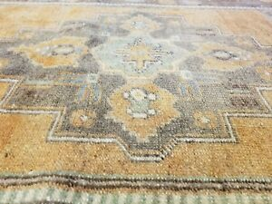 Beautiful Antique Cr1900 1939 S Muted Natural Dye 3 2 X 6 7 Oushak Rug