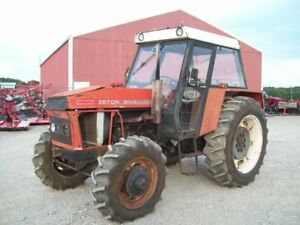 Zetor 8145 Tractor 4 Wheel Drive With Cab Kinda Ugly But Runs Good