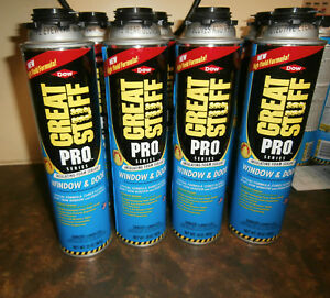 8 Cans Dow Great Stuff Pro Window And Door 20oz Foam Insulating Sealant