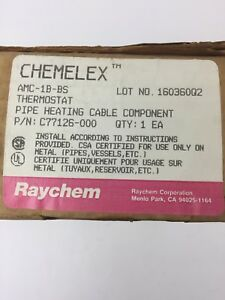 Chemelex Amc 1b bs Thermostat Pipe Heating Cable Component 22a 125 250 480vac