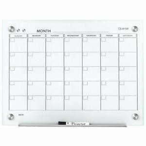 Quartet Gc2418f Glass Dry Erase Board Magnetic Calendar Whiteboard Box Damage