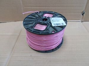 14 Awg Thhn Thwn Electric Wire 500 Spool Stranded Pink