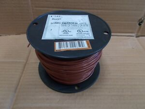 14 Awg Thhn Thwn Electric Wire 500 Spool Stranded Brown Brown