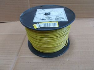 14 Awg Thhn Thwn Electric Wire 500 Spool Stranded Yellow