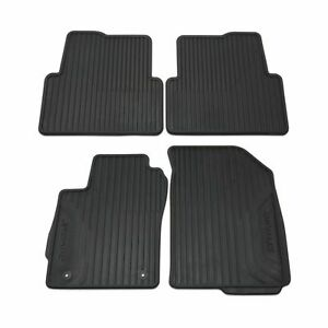 Fits 2014 2017 Chevy Sonic Logo All Weather Front Rear Floor Mats Gm Black