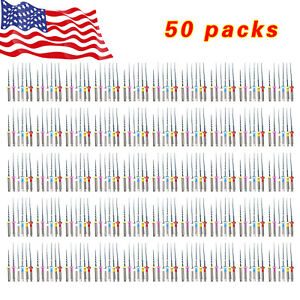 300pcs Dental Endo Niti Files Endodontic Rotary Twisted Tips For Engine Assorted