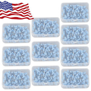 1000pcs Dental Rubber Prophy Angle Cup Tooth Polish Cups Brush Latch Type Blue B