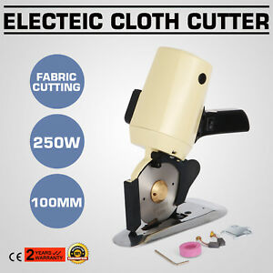 Electric Cloth Cutter Cutting Machine 100mm 4 Blade Industrial Hand held Fabric