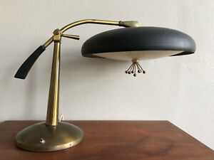 Extremely Rare Paavo Tynell Desk Lamp Mid Century Modern Brass Light Estate