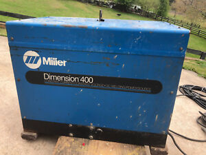 Miller Dimension 400 Arc Welder Power Source Industrial Welding Stick Mig