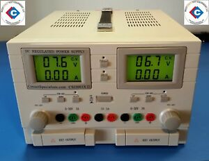 Dc Regulated 30 Volt Dc 3 0 Amp Triple Output Linear Power Supply used
