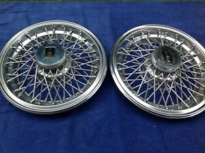 Lincoln Spoke Hubcaps 15 Inch Will Fit Most Lincolns
