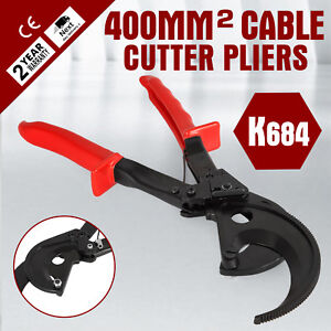 K684 t Ratcheting 800 Mcm Wire Cable Cutter Up To 400mm2 Copper Cutting Red