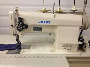 Juki Lh 515 Two Needle Feed 3 16 New Table 110v Motor Industrial Sewing Machine