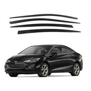 Smoke Window Sun Vent Visor Rain Guards 4pcs For Chevrolet All New Cruze 17 18
