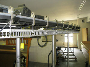 Industrial Rotating Clothing Rack Used as Seen In Dry Cleaning Business