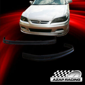 2001 2002 Pu Mugen Style Front Bumper Lip Spoiler Fits Honda Accord Coupe 2dr
