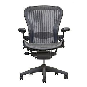 Herman Miller Aeron Chair size B Fully Loaded Hardwood Casters