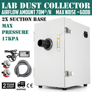 Dental Lab Single row Dust Collector Vacuum Cleaner 2 Suction Base 17kpa