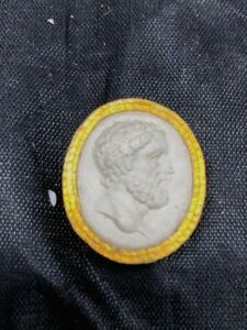 19th Century Grand Tour Intaglio Tassie Seal 1 In Original Bearded Male Gold