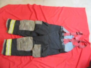 Globe Gx 7 Firefighter Bunker Turnout Pants 40 X 30 Thermal Liner Costume