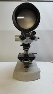 Carl Zeiss 47 16 90 9900 08 Universal Microscope W 2 Objectives Glarex Screen