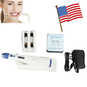 Dental Cordless Obturation Heat Pen Gutta Percha Filling Plugger Bar Battery Tip