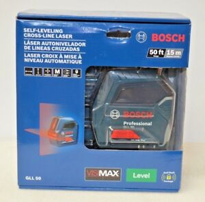 Bosch Gll 50 50ft Self leveling Cross line Laser Level New Factory Sealed
