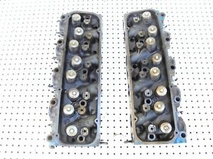 1973 Ford 460 V 8 Big Block 4 Barrel Cylinder Heads D3ve A2a Pair
