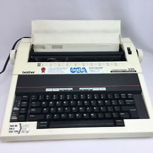 Brother Portable Electronic Typewriter With Instruction Manual Correctronic 320