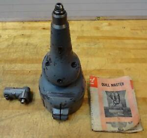 Clean Bridgeport Ja Quill Master Attachment With Qra Right Angle Attachment Mill