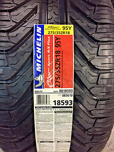 2 New 275 35 18 Michelin Pilot Sport A S Plus Tires