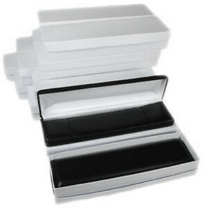 12 Piece Black Faux Leather Bracelet Display Jewelry Gift Box 8 X 2 X 1 1 8