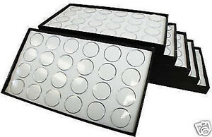 Gemstone Storage Organizer Display Trays And 144 White Acrylic Gem Jars Travel
