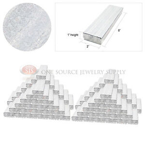 100 Silver Foil Gift Jewelry Cotton Filled Boxes 8 X 2 X 1 Bracelets Watches