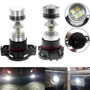 2x 2504 Psx24w 6000k White 100w Led Headlight Bulbs Fog Light Drl Dc 12v To 24v