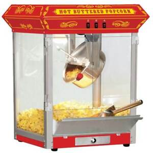 Funtime Carnival Style 8 Oz Hot Oil Popcorn Machine In Red id 166863