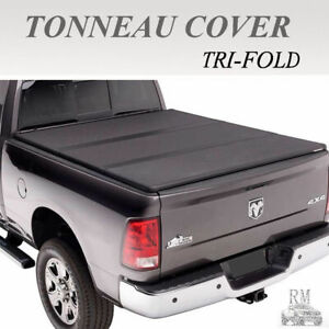 Lock Tri Fold Hard Solid Tonneau Cover Fit 2014 2018 Chevy Silverado 6 5 Ft Bed