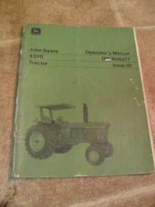 John Deere 4320 Tractor Operators Manual Original Om r48277