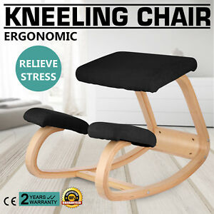 Adjustable Bentwood Ergonomic Kneeling Chair Stool In Fabirc Balance Body Pro