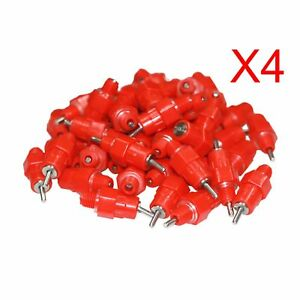 200 Pack Chicken Nipple Drinker Poultry Duck Hen Screw In Water Feeder Abd