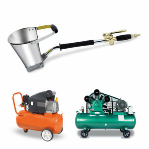 1 Mortar Cement Spray Gun With Hopper Bucket Stucco Plaster Sprayer Tools New