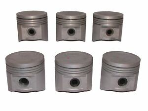 6 New Pistons With Pins 1960 1972 Gmc 401 401m V6 Engines