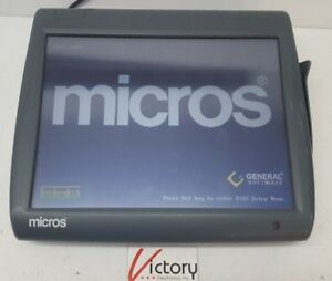 Used Micros Workstation 5 System Unit 400814 001 touch Screen w windows v 01